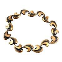 BIG Vintage 1950s Handmade Copper Moderne Dimensional Design Convertible Bracelets NECKLACE