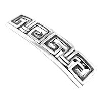 BIG 1950s Margot de Taxco Handmade Sterling Silver Mexican Art Deco Geometric HAIR CLIP