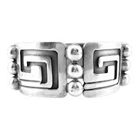 ICONIC 1960s Miguel Garcia Martinez Taxco Handmade Sterling Silver Mexican BRACELET