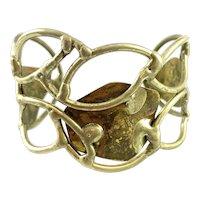 HUGE 1960s 70s One of a Kind Handmade Bronze Brutalist Modernist Cuff BRACELET