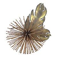 HUGE 1960s Jeré California Handmade Mixed Metals Copper & Bronze Modernist Flower SCULPTURE