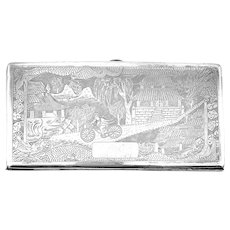 HUGE Antique Chinese Export Silver Handmade Sterling Silver Elaborately Decorated CASE