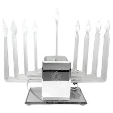 RARE Vintage 1960s 70s Hand Crafted Lucite Hanukkah Chanukah Electric MENORAH
