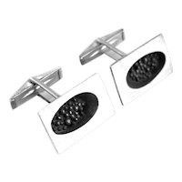 SUPERB 1950s Harold Fithian Handmade Sterling Silver Abstract Modernist Brutalist CUFFLINKS