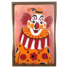 WHIMSICAL Vintage 1970s Annemarie Davidson Copper Enamel & Wood Circus Clown BOX