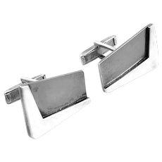 ICONIC Vintage 1950s Sigi Pineda Taxco Handmade Sterling Silver Mexican Modernist Boomerang CUFFLINKS
