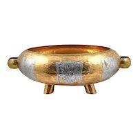 HUGE 1960s 70s Poto Peru Handmade Hammered Mixed Metals pre Columbian Modernist Bowl CENTERPIECE