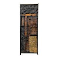 SUPERB 1971 Ted Ellingsen Oregon Handmade Carved Wood Abstract Modernist Wall Hanging SCULPTURE