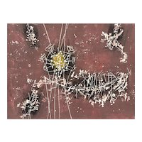 "ORIGINAL Vintage 1950s Hermann OBER Print on Paper ""Herbst Blüten"" (Autumn Flowers) 175/200 Pencil Signed ARTWORK"