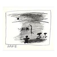 ORIGINAL 1961 Pablo Picasso Jeu de la Cape A los Toros Mourlot LITHOGRAPH