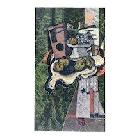 "ORIGINAL 1962 Georges Braque ""Still Life"" Louvre Chalcographie BFK Rives Paper LITHOGRAPH"