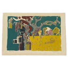 "Édouard PIGNON France 1950s Signed Numbered Lithograph ""Vendanges"" ARTWORK"