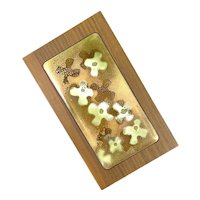 RARE Vintage 1960s Bovano Handmade Copper Enamel & Wood Modernist Flowers BOX