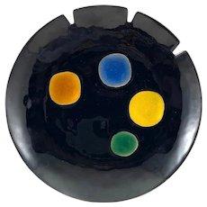 RARE Striking 1960s Bovano USA Copper Enamel Modernist Bowl/Tray ARTWORK