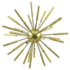 ICONIC Vintage 1950s 60s Brass Modernist Dimensional Space Age Sputnik Table Top SCULPTURE