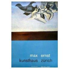 Vintage 1963 Original Litho Poster MAX ERNST Kunsthaus Zurich Atelier W Diethelm Exhibition Lithograph POSTER