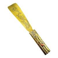 RARE Antique 19th Century Edo to Meiji Japanese Japan Handmade Mixed Metals SHOE HORN