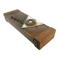 RARE One of a Kind Vintage 1950s Francisco REBAJES Original Design Copper & Wood Modernist BOX