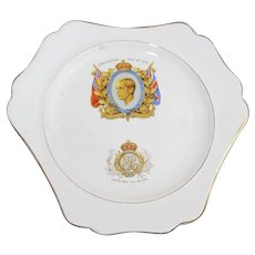 Vintage 1937 Ceramic King Edward VIII Of England Coronation Plate By LANCASTER