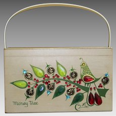 Vintage 1970s Enid Collins Original Box Bag Purse Handbag Bag Titled MONEY TREE