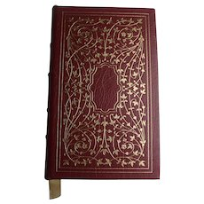 Vintage 1978 JANE EYRE Book By Charlotte Bronte Collectors Edition Red Leather Bound Edition Easton Press