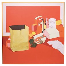 Untitled (Table Series, 1971) Painting by Salvatore Grippi