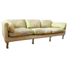 Mid-Century Chartreuse Brocade With Sakura Design Chinoirosie Modern Sofa
