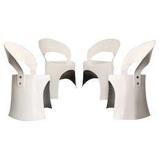 Nanna Ditzel White Fiberglass Chair (1969)