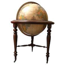 Mid-Century Americana Replogle Illuminated Floorstanding Globe