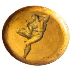 Mid-Century Gilt neo renaissance Wooden Plate