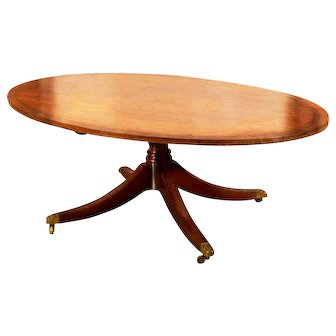 Arthur Brett and Sons Norwich, England mahogany coffee table
