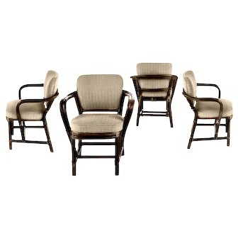 McGuire of San Francisco Set of 4 armchairs