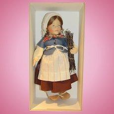 R John Wright Gretel Brinker Doll MIB 1990-92 LE 350