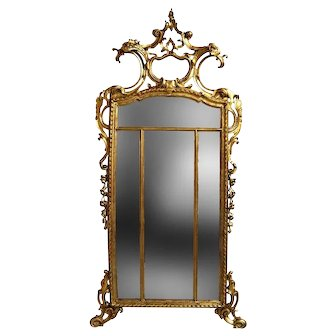 19th Century Louis XIV style Gilt Wood and Gesso Mirror