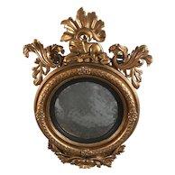 Circa 1790 George III Hand-carved Wooden Bullseye Mirror