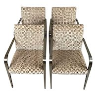 Circa 1950 Aria Chairs Hand Block Print
