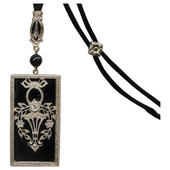 Diamond Lavaliere on Silk Cord