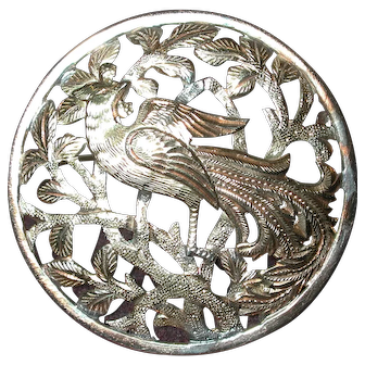 14kt. Yellow Gold Phoenix Brooch from Ming's