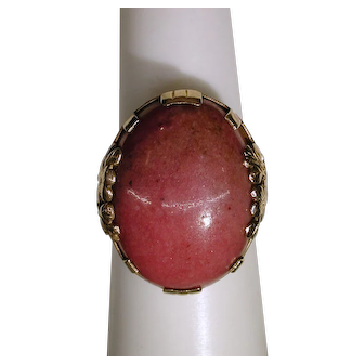 14kt. Yellow Gold Rhodochrosite Ring from Mings