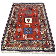 4.8 x 3.3 Special design Anatolian Kazak Oriental rug √ Free shipping