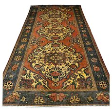Free shipping - 11.5 x 8.2 Vintage shabby chic bohemian Oriental rug - early 1900s