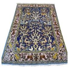 Free shipping - 5.3 x 3.5 Bohemian Animal kingdom Oriental rug
