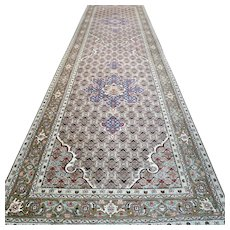 9.8 x 2.6  Luxury light Oriental runner  √ Free shipping