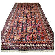 10.2 x 5.3  Colorful special design Kazak Oriental rug √ Free shipping
