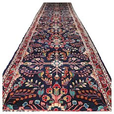 14 x 3.4 Large dark bohemian Oriental rug √ Free shipping
