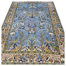 Free shipping - Animal kingdom Oriental rug - 5.3 x 3.4