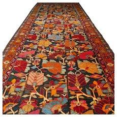 Free shipping - 13.9 x 5.3 Oversized special design Caucasian Kazak rug