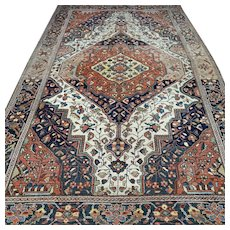 6.9 x 4.3 Vintage antique bohemian Oriental rug √ Free shipping