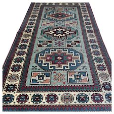 5.6 x 3.2 Luxury light blue Anatolian Kazak Oriental rug √ Free shipping
