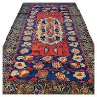 8.7 x 5.4 Antique 1920s Caucasian Karabakh Kazak Oriental rug √ Free shipping